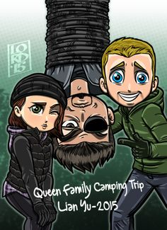 Thea and Ollie ~~ Arrow ~~ art by Lord Mesa Stephen Amell Arrow, Arrow Oliver, Arrow Tv Series, Cw Series, Marvel Dc, Arrow Flash, Lord Mesa Art, Arrow Memes, Arrow Funny