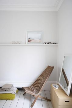 Wooden lounge chair used indoors - Victorian house in Stoke Newington, London | Remodelista