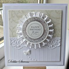 3/17/14.  Paperpasttimes: Spellbinders grand squares and stately circles, Sue Wilson Italian border.