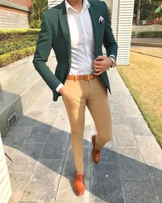 Men Suit's - Stylish Formal Men Work Outfit Ideas To Change Your Blazer Outfits Men, Casual Outfits, Dress Casual, Casual Suit, Simple Outfits, Green Suit Jacket, Green Blazer Mens, Traje Casual, Formal Men Outfit