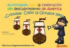 Actividades para la celebración del descubrimiento de América. Color y ByN Para listas para imprimir