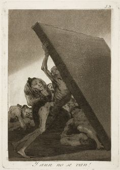 """Francisco de Goya: """"Y aun no se van!"""". Serie """"Los caprichos"""" [59]. Etching, aquatint and burin on paper, 214 x 150 mm, 1797-99. Museo Nacional del Prado, Madrid, Spain"""