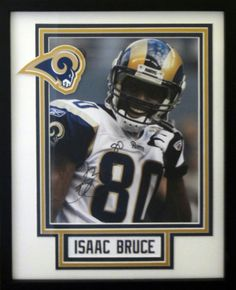 Isaac Bruce. St. Louis Rams. Autographed 8x10 photo.