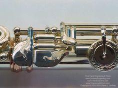 Engraved Flute Foot Joint - Interesting Design!