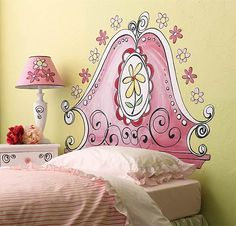 Think my girls would love this - and they wouldn't bang their heads on this headboard.