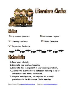 This is a WHOLE literature pack!  I love literature circles! This pack includes rules for running and behaving in literature circles. There are ple...