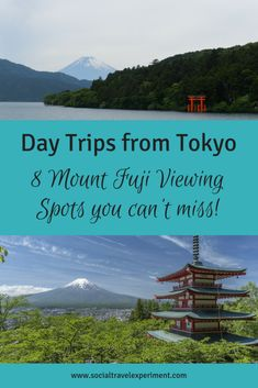 8 Top Places to see Mount Fuji from Tokyo. If you want to see Fujisan a day trip to Hakone or Fuji Five Lakes around Kawaguchiko is the place to go from Tokyo. With information on how to get everywhere and even some tour information. Japan Travel Guide, Asia Travel, Travel Guides, Tokyo Travel, Travel List, Day Trips From Tokyo, Tokyo Trip, Japan Trip, Japan Beach