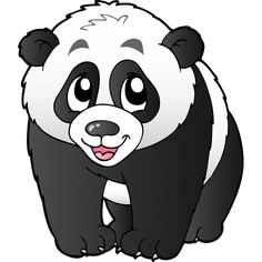 Panda Bears Cartoon Animal Images Free To Download.All Bears Clip Art Images Are On A Transparent Background