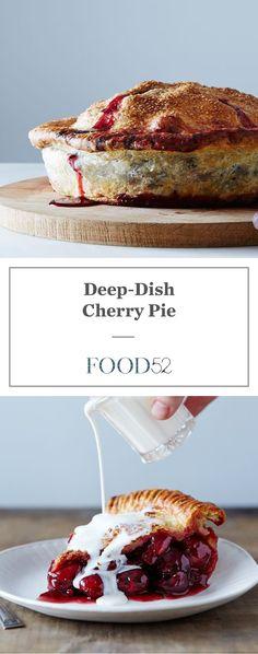 Deep dish cherry pie