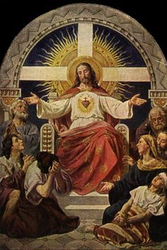 On today's Solemnity of the Most Sacred Heart of Jesus, Fr Gabriel of St M. Magdalen reflects on returning love to Christ for His love to us. Pictures Of Jesus Christ, Religious Pictures, Religious Icons, Religious Art, Catholic Art, Roman Catholic, Liturgy Of The Hours, Religion Catolica, Christ The King