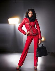 Damen Steppjacke mit Schmuckkanten in der Farbe rot - im MADELEINE Mode Onlineshop