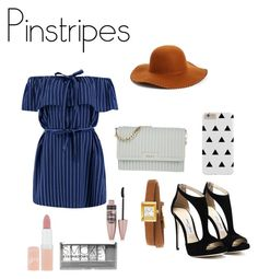 """""""Pinstripes"""" by kenzie4ever11 on Polyvore featuring DKNY, Boohoo, Phase 3, Gucci, Rimmel and Maybelline"""