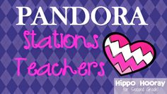 Hippo Hooray for Second Grade!: Pandora in the Classroom. Add classical for studying. I love that one.