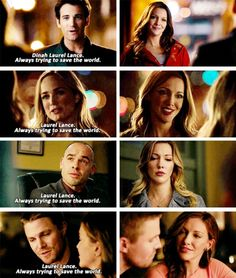 """Laurel Lance was tye Black Canary... She was a hero. She was a hero in every way that a person can be."" #Arrow #Season4 #4x19"