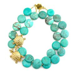 Elva Fields - Adrift at Sea turquoise necklace