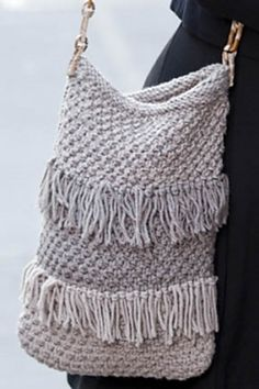 Ravelry: Napoli Fringed Bag pattern by FDC Design Studio