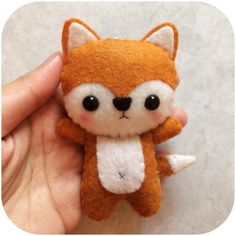 Cute Fox - Felt Plush Toy    Size is approximately 2 x 4    Made with high quality eco-friendly felt. Each item is handmade: hand-stitched with love <3    Accepting custom orders. Message me