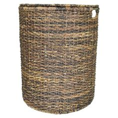 Threshold™ Global Hamper - I want a dark colored woven hamper with a lid. Lid is critical, because our dogs are jerks