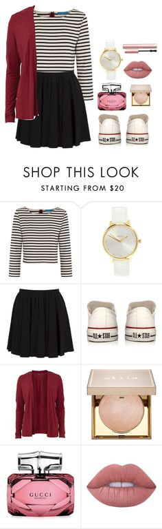 """""""y"""" by ariel-1017 on Polyvore featuring Alice + Olivia, Nixon, Marc Jacobs, Converse, VILA, Stila, Gucci, Lime Crime and Too Faced Cosmetics"""