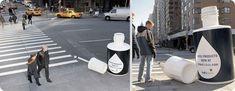 On s'était intéressés aux publicités qui utilisent originalement l'espace urbain, à deux reprises ainsi qu'aux trompes l'oeil de Julian Beever. Et comme le sujet est vaste et que l'espace urbain titil