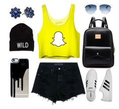 Cool girl by athenark on Polyvore featuring polyvore, fashion, style, Alexander Wang, adidas, Nina, Christian Dior, American Eagle Outfitters and clothing