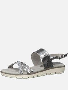 6bcb41390214 Objednej si MARCO TOZZI Páskové sandály - stříbrná na ABOUT YOU. ✓Dodání a  vrácení