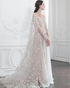 Wedding Dresses Vintage Unique Paolo Sebastian Haute Couture Fall/Winter - The Nutcracker.Wedding Dresses Vintage Unique Paolo Sebastian Haute Couture Fall/Winter - The Nutcracker. Ivory Lace Wedding Dress, Best Wedding Dresses, Cheap Wedding Dress, Bridal Dresses, Gown Wedding, Wedding Dress Cape, Fairy Wedding Dress, Ralph Lauren Wedding Dress, Queen Wedding Dress