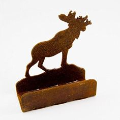 Metal moose designer business card holder popular creatins moose walking rusted rustic metal business card holder 375w x 4h 1st colourmoves