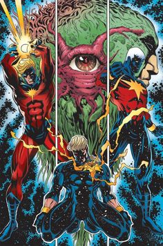 Mar-Vell and son Genis Vell evolves from Legacy to the New Captain Marvel - Marvel Universe Marvel Comic Character, Comic Book Characters, Marvel Characters, Comic Books Art, Comic Art, Book Art, Fictional Characters, Marvel Dc, Marvel Comics Art