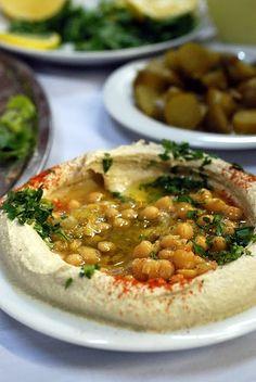 Humus from Abu Gosh, Israel. www.sarahmelamed.com