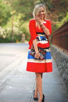#dresscolorfully ksny classics, bows + stripe