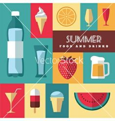 Summer icons set vector by maglyvi on VectorStock®