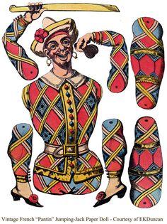 """EKDuncan - My Fanciful Muse: Scottish Lass & Gypsy Pirate """"Pantin"""" Paper Dolls"""