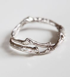 Double Silver Branch Ring | A wearable bit of nature for your paws, this silver ring is ca... | Rings