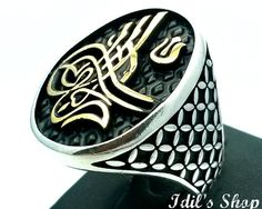 Men's Ring Turkish Ottoman Style Silver Ring by IdilsShop Lord Of The Rings, Rings For Men, Blue Friday, Man Ring, Gold And Silver Rings, Kinds Of Clothes, Men's Accessories, Picture Tattoos, Tattoo Ideas
