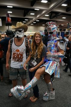 Think they had a few drinks? #SDCC #beerwarrior #cosplay
