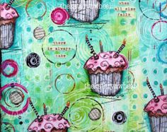 Art Journal  Cupcakes