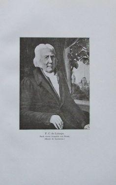 FC DE LAHARPE NACH VON BOSSE Porträt 1914 alter Druck antique print Lithographie