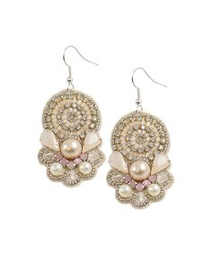 Look at this #zulilyfind! Vintage Addiction Pink Blush Crystal Drop Earrings by Vintage Addiction #zulilyfinds