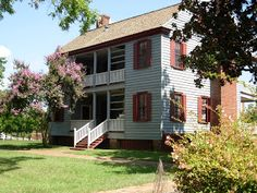 Ezekiel Harris House on Broad St in Augusta was built in 1797.  When I was in school, we went on a field trip to the house.  What was so cool to me was that the house was supposed to be haunted.  Can't remember the story but something about a hanging on the stairs (I believe 13 stairs) during the civil war and heads rolling at night.