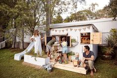 Castle and Cubby - Apple Crate Cubby House for Courtney Adamo and family. Cubby houses made by hand in Australia - Melbourne and Byron Bay.