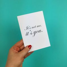Tell it like it is with this card from http://ift.tt/1ihQVKN // FREE uk shipping available // use code BBF for 25% off until Midnight! #LaLaLandUK @LaLaLandUK #ShopLocal #ShopIndie #CyberMonday #BlackFriday
