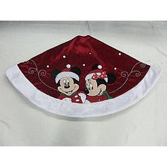 disney 48 disney tree skirt mickeyminnie red seasonal christmas - Disney Christmas Tree Skirt