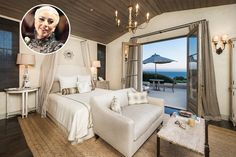 Gaga purchased a large compound that sits on a of Malibu estate across from Malibu's Zuma Beach. Today we present you Lady Gaga´s Malibu Home. Malibu Mansion, Malibu Homes, Lady Gaga, Home Bedroom, Bedroom Decor, Master Bedrooms, Bedroom Ideas, Villa, Custom Drapes