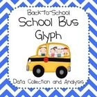 """School bus mini art project to collect and analyze data. Perfect for """"getting to know you"""" at the beginning of the year. Includes instructions, bus..."""