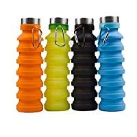 PESCA Silicone Portable Leak Proof Foldable Water Bottle (Pack of 1 - Multicolour) Camping Cups, Steel Rims, Travel Cup, Kitchen Products, Cupping Set, Color Names, Cool Kitchens, Drinking, Water Bottle