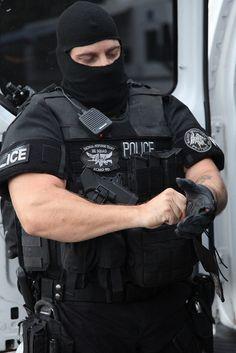 Kansas City Missouri Police Department's Tactical Response Team...