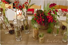 An idea for a wedding centerpiece - can vary for any season/decor/color scheme // Kim Kalyn Photography » Victoria BC Wedding and Portrait Photographer
