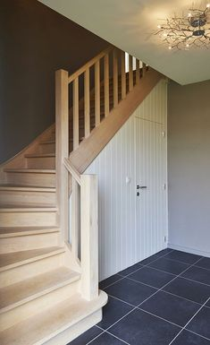 This is also true for that basement stairs. Staircase Storage, House Staircase, Staircase Design, Staircases, Escalier Design, Under Stairs Cupboard, Small Space Interior Design, Barn Renovation, Wooden Stairs