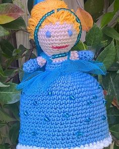 #Bibbidy bobbidy boo #Cinderella ready for the ball #Easter lambada #toy #crochetgirls #crochettoy #amigurumi (based on Irka Khan's pattern)